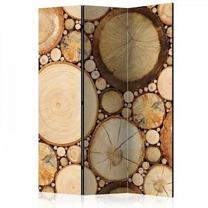 artgeist Paravent Wood grains [Room Dividers] braun/beige Gr. 135 x 172
