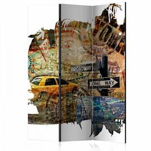 artgeist Paravent New York Collage [Room Dividers] mehrfarbig Gr. 135 x 172