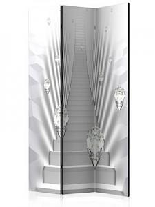 artgeist Paravent Mneme [Room Dividers] grau/weiß Gr. 135 x 172