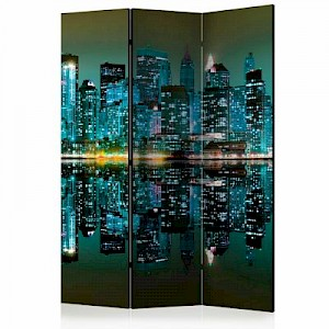 artgeist Paravent Gold reflections - NYC [Room Dividers] mehrfarbig Gr. 135 x 172