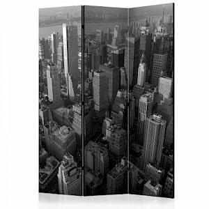 artgeist Paravent New York: skyscrapers (bird's eye view) [Room Dividers] schwarz/weiß Gr. 135 x 172