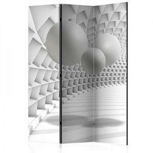 artgeist Paravent Abstract Tunnel [Room Dividers] schwarz/weiß Gr. 135 x 172
