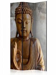 artgeist Paravent Buddha [Room Dividers] braun/grau Gr. 135 x 172