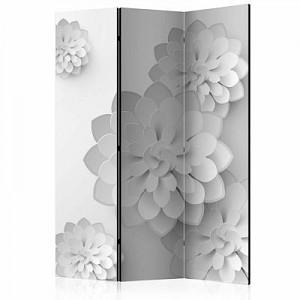 artgeist Paravent White Garden [Room Dividers] schwarz/weiß Gr. 135 x 172