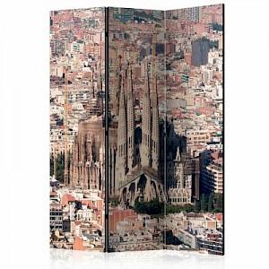 artgeist Paravent Heart of Barcelona [Room Dividers] rot/braun Gr. 135 x 172