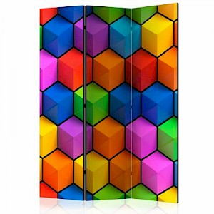 artgeist Paravent Rainbow Geometry [Room Dividers] mehrfarbig Gr. 135 x 172