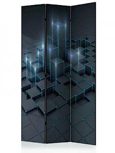 artgeist Paravent Black City [Room Dividers] schwarz/blau Gr. 135 x 172