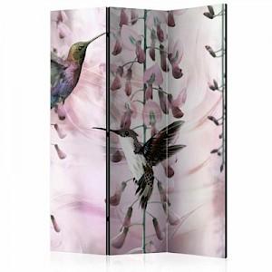 artgeist Paravent Flying Hummingbirds (Pink) [Room Dividers] mehrfarbig Gr. 135 x 172