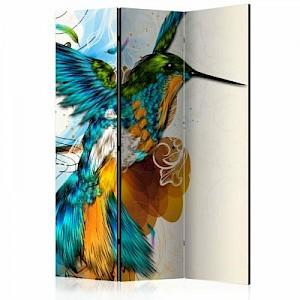 artgeist Paravent Bird's Music [Room Dividers] mehrfarbig Gr. 135 x 172