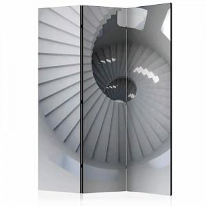 artgeist Paravent Lighthouse staircase [Room Dividers] schwarz/weiß Gr. 135 x 172
