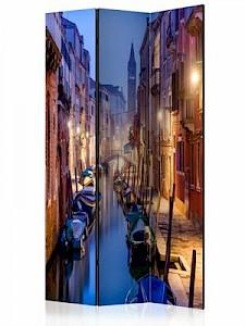 artgeist Paravent Evening in Venice [Room Dividers] beige-kombi Gr. 135 x 172