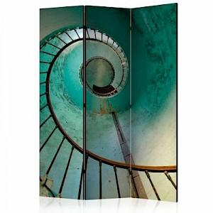 artgeist Paravent Lighthouse - Stairs [Room Dividers] grün-kombi Gr. 135 x 172