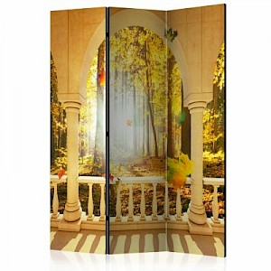artgeist Paravent Dream About Autumnal Forest [Room Dividers] gelb-kombi Gr. 135 x 172