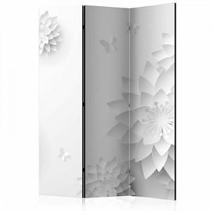 artgeist Paravent Oriental Flowers [Room Dividers] schwarz/weiß Gr. 135 x 172