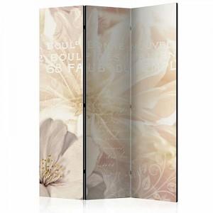 artgeist Paravent Kiss of Gentleness [Room Dividers] beige Gr. 135 x 172