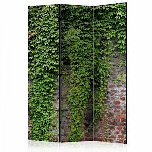 artgeist Paravent Brick and ivy [Room Dividers] rot/grün Gr. 135 x 172