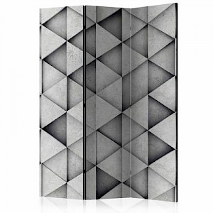 artgeist Paravent Grey Triangles [Room Dividers] grau Gr. 135 x 172