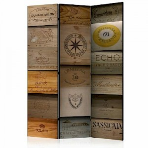 artgeist Paravent Old Vineyard [Room Dividers] grau-kombi Gr. 135 x 172
