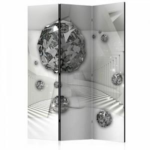 artgeist Paravent Diamond Chamber II [Room Dividers] schwarz/weiß Gr. 135 x 172