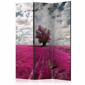 artgeist Paravent Magenta meadow [Room Dividers] mehrfarbig Gr. 135 x 172
