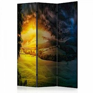 artgeist Paravent Twilight over the Valley [Room Dividers] mehrfarbig Gr. 135 x 172