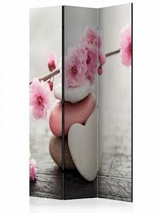 artgeist Paravent Zen Flowers [Room Dividers] braun-kombi Gr. 135 x 172