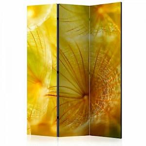 artgeist Paravent Soft dandelion flower [Room Dividers] gelb Gr. 135 x 172