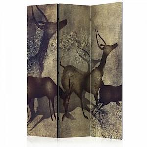artgeist Paravent Antelopes [Room Dividers] grau/braun Gr. 135 x 172