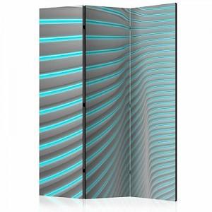 artgeist Paravent Neon Blue [Room Dividers] graublau Gr. 135 x 172