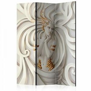 artgeist Paravent Goddess In Gold [Room Dividers] grau-kombi Gr. 135 x 172