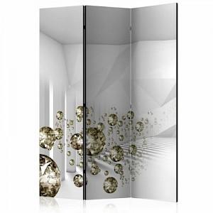 artgeist Paravent Corridor of Diamonds [Room Dividers] mehrfarbig Gr. 135 x 172