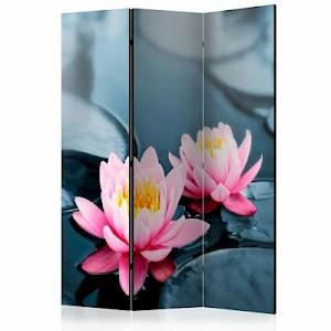 artgeist Paravent Lotus blossoms [Room Dividers] mehrfarbig Gr. 135 x 172