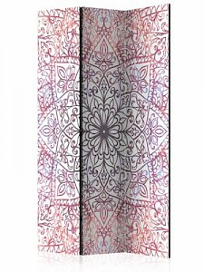 artgeist Paravent Ethnic Perfection [Room Dividers] creme/rot Gr. 135 x 172