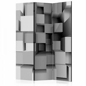 artgeist Paravent Mechanical Symmetry [Room Dividers] grau Gr. 135 x 172