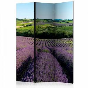 artgeist Paravent Lavender fields [Room Dividers] mehrfarbig Gr. 135 x 172