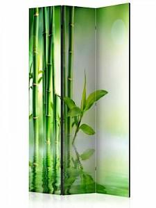 artgeist Paravent Green Bamboo [Room Dividers] grün/gelb Gr. 135 x 172