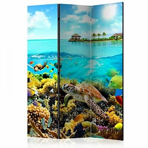 artgeist Paravent Heavenly Maldive [Room Dividers] mehrfarbig Gr. 135 x 172
