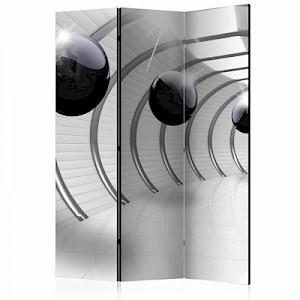 artgeist Paravent Futuristic Tunnel II [Room Dividers] weiß/grau Gr. 135 x 172