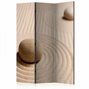 artgeist Paravent Sand and zen [Room Dividers] braun Gr. 135 x 172