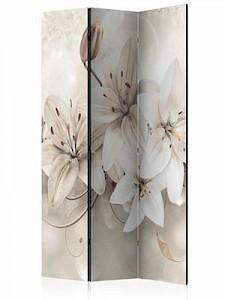 artgeist Paravent Diamond Lilies [Room Dividers] beige-kombi Gr. 135 x 172