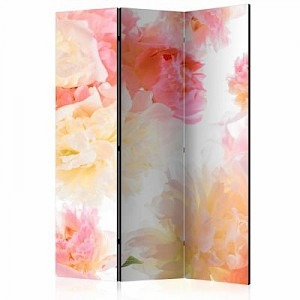 artgeist Paravent Pastel peonies [Room Dividers] mehrfarbig Gr. 135 x 172