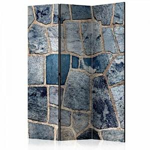 artgeist Paravent Sapphire Stone [Room Dividers] blau/beige Gr. 135 x 172