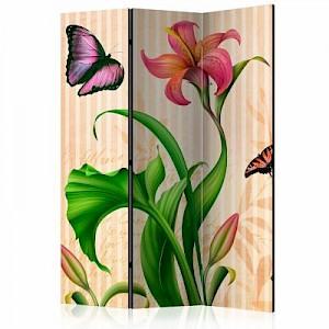 artgeist Paravent Vintage - spring [Room Dividers] mehrfarbig Gr. 135 x 172