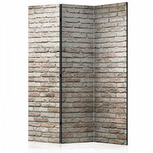 artgeist Paravent Elegant Brick [Room Dividers] grau/beige Gr. 135 x 172