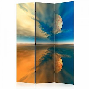 artgeist Paravent Fly me to the moon [Room Dividers] mehrfarbig Gr. 135 x 172
