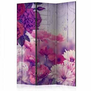 artgeist Paravent Flowers Memories [Room Dividers] mehrfarbig Gr. 135 x 172