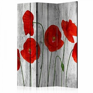 artgeist Paravent Tale of Red Poppies [Room Dividers] mehrfarbig Gr. 135 x 172