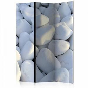 artgeist Paravent White Pebbles [Room Dividers] schwarz/weiß Gr. 135 x 172