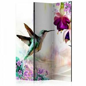 artgeist Paravent Hummingbirds and Flowers [Room Dividers] mehrfarbig Gr. 135 x 172