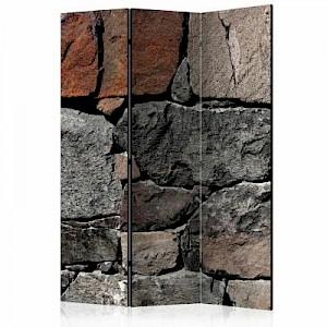 artgeist Paravent Dark Stones [Room Dividers] grau/braun Gr. 135 x 172